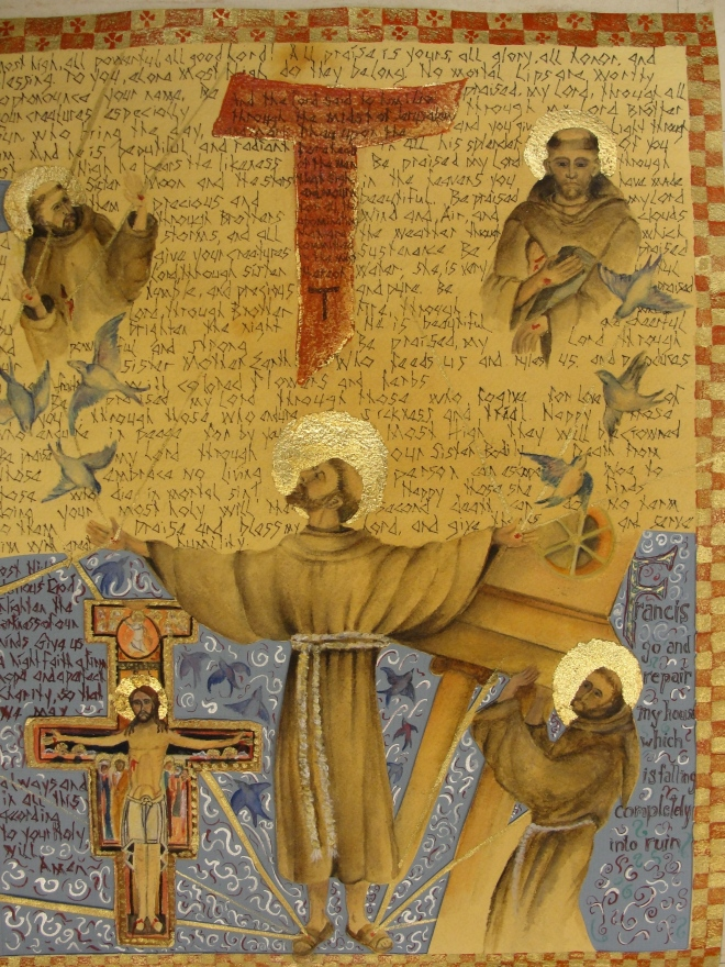 A sinner turned saint.  Santo Francesco